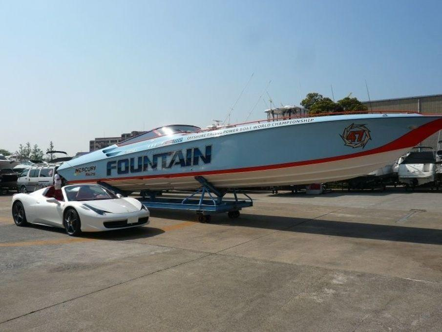 fountain powerboats 47 lightning stern drive used boat in japan for sale